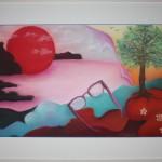 Rosa Brille / 52.5 x 72.5 / CHF 580.-